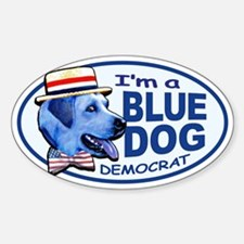 New Blue Dog Democrat Oval Decal