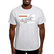 C-47 Routes of Escape Ash Grey T-Shirt