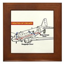 C-47 Routes of Escape Framed Tile