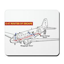 C-47 Routes of Escape Mousepad
