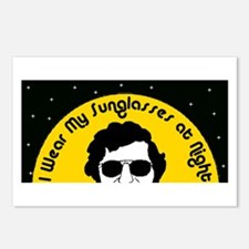I Wear My Sunglasses at Night Postcards (Package o