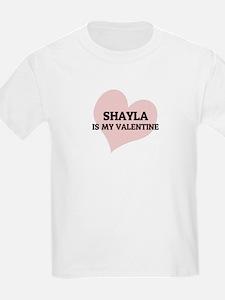 Shayla Is My Valentine Kids T-Shirt
