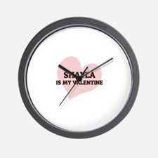 Shayla Is My Valentine Wall Clock