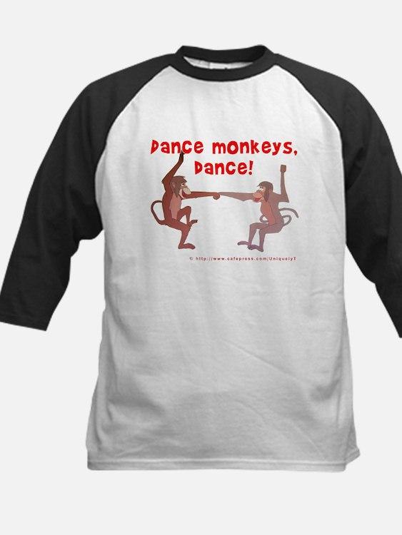Dance Monkeys, Dance! Kids Baseball Jersey
