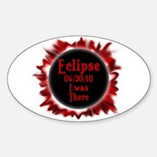 Eclipse I was there Sticker (Oval)