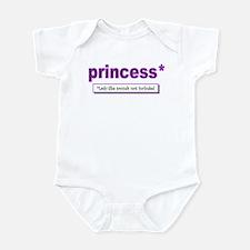 princess lady-like sounds Infant Bodysuit