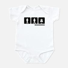 LEADS FOLLOWS DJS Infant Bodysuit