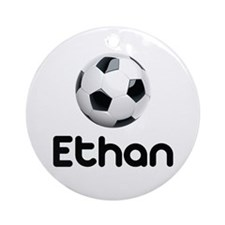 Soccer Ethan Ornament (Round)