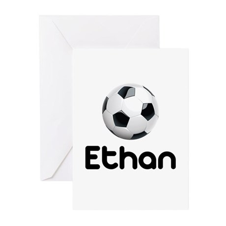 Soccer Ethan Greeting Cards (Pk of 10)