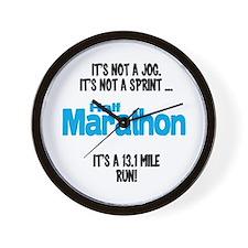 It's a 13.1 mile run Wall Clock
