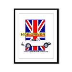 MGB Driver Framed Panel Print