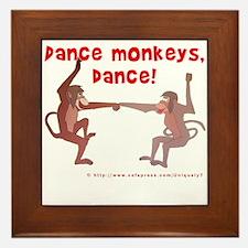Dance Monkeys, Dance! Framed Tile