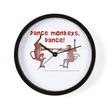 Dance Monkeys, Dance! Wall Clock
