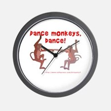 Dance Monkeys, Dance! Wall Clock