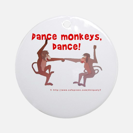 Dance Monkeys, Dance! Ornament (Round)