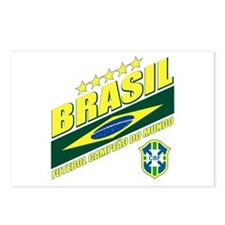 Brasilian World cup soccer Postcards (Package of 8