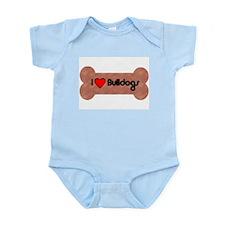 I LOVE BULLDOGS Infant Creeper