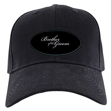 Brother of the Groom Formal Font Black Cap