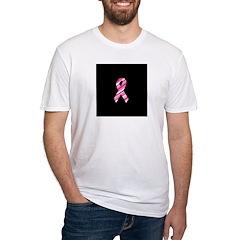 Breast Cancer Ribbon Pinstrip Shirt