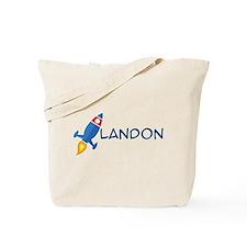 Landon Rocket Ship Tote Bag