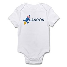 Landon Rocket Ship Infant Bodysuit