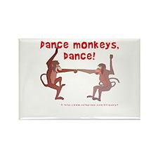 Dance Monkeys, Dance! Rectangle Magnet (100 pack)