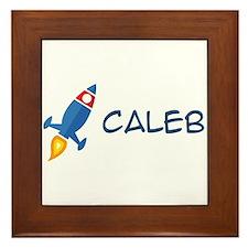 Caleb Rocket Ship Framed Tile