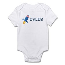 Caleb Rocket Ship Infant Bodysuit