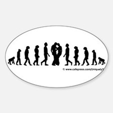 Evolution Sticker (Oval)