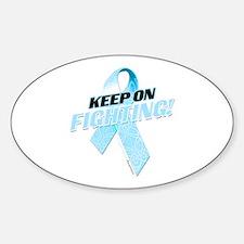 Keep on Fighting! Sticker (Oval)