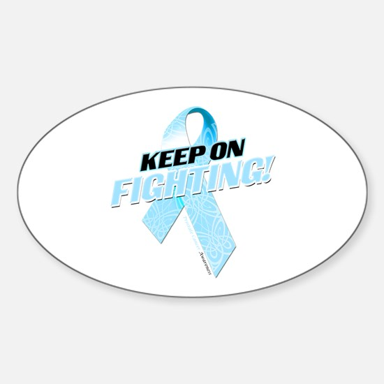 Keep on Fighting! Sticker (Oval)