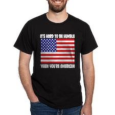 American USA Pride Black T-Shirt