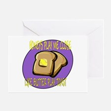 Notorious Buttered Toast Greeting Card