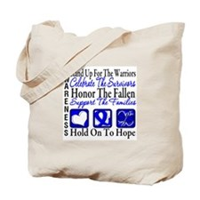 Colon Cancer StandUp Tote Bag