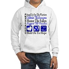 Colon Cancer StandUp Hoodie