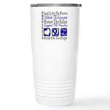 Colon Cancer StandUp Travel Coffee Mug