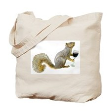 Squirrel with Wine Tote Bag