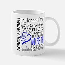 IWearBlue TributeRibbon Small Small Mug