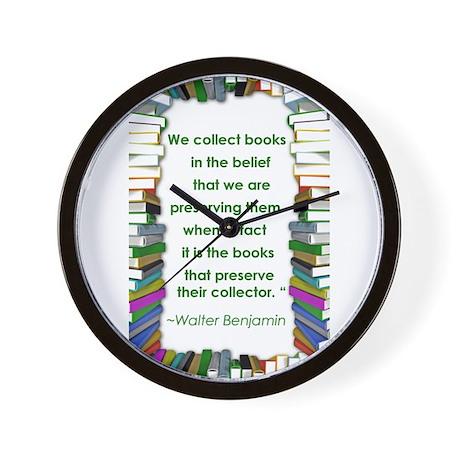 Walter Benjamin on Books Wall Clock