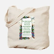 Walter Benjamin on Books Tote Bag