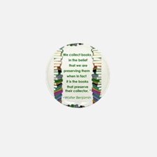 Walter Benjamin on Books Mini Button