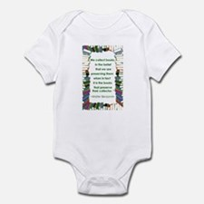 Walter Benjamin on Books Infant Bodysuit