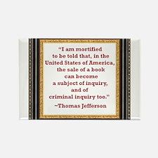 Thomas Jefferson on book sale Rectangle Magnet