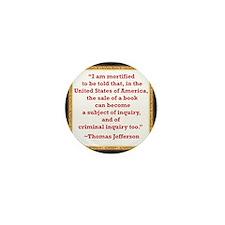 Thomas Jefferson on book sale Mini Button