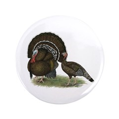 "Turkey Standard Bronze 3.5"" Button (100 pack)"
