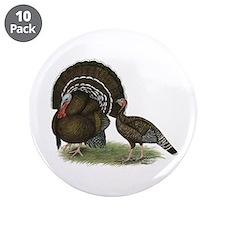 """Turkey Standard Bronze 3.5"""" Button (10 pack)"""