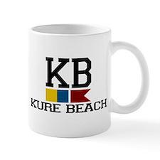Kure Beach NC - Nautical Flags Design Mug