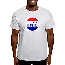 I Like Ike Ash Grey T-Shirt