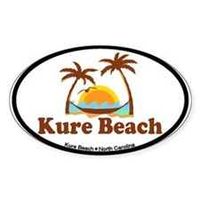 Kure Beach NC - Beach Design Decal