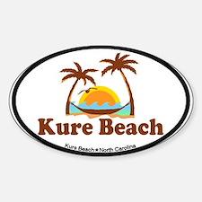 Kure Beach NC - Beach Design Decal